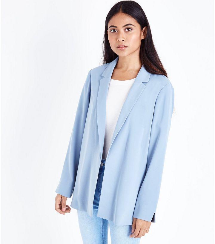 petite-pale-blue-crepe-blazer-