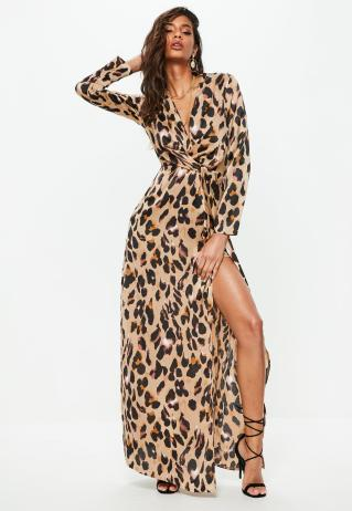 gold-leopard-print-wrap-front-maxi-dress