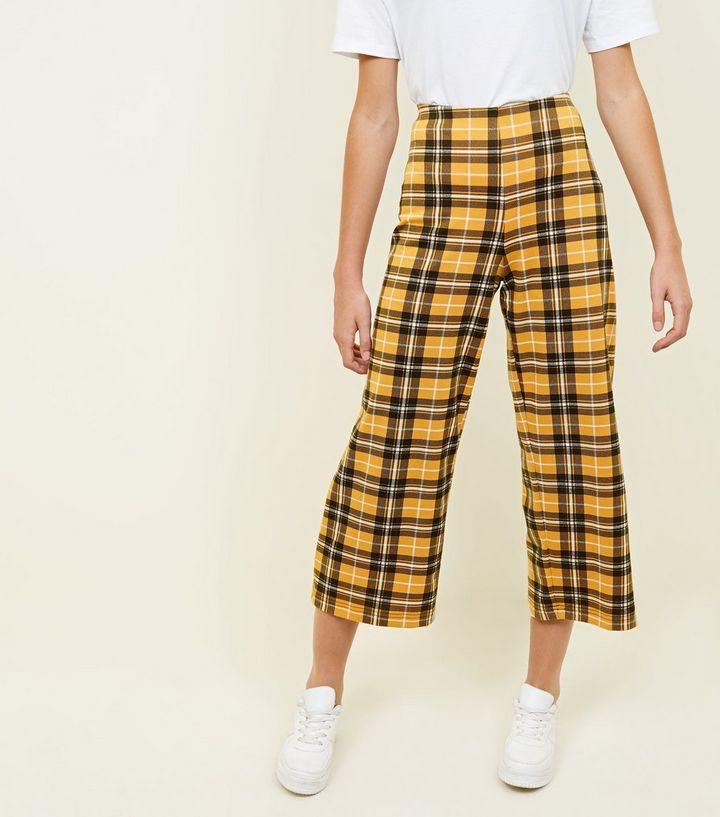 mustard-check-cropped-trousers