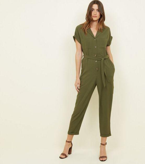 khaki-button-front-tapered-leg-jumpsuit-